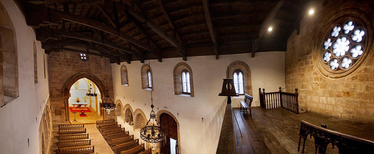 Panorámica interior de Santa María de la Oliva
