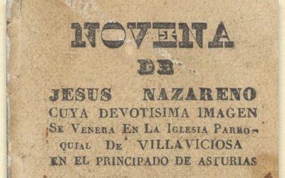 La Novena del Nazareno, primera publicación impresa en una imprenta de Villaviciosa